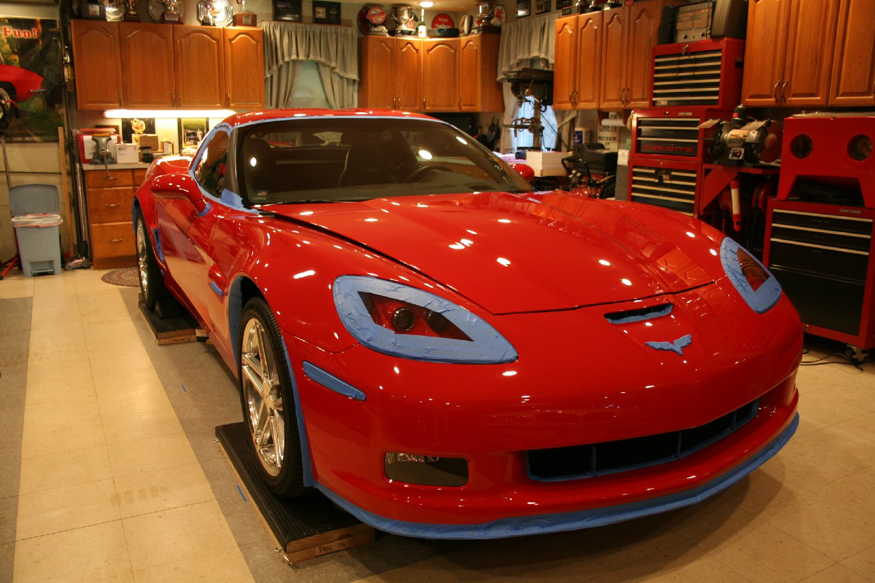 c6 z06 polishing polish prep taping jpg